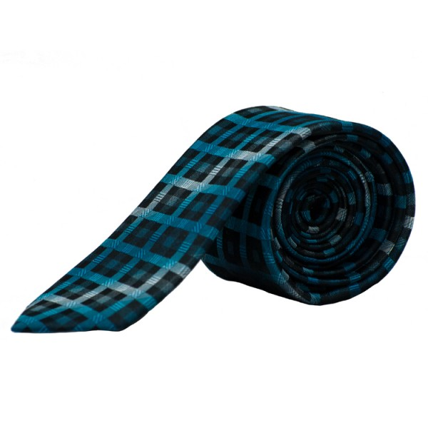 Pure Krawatte türkis kariert