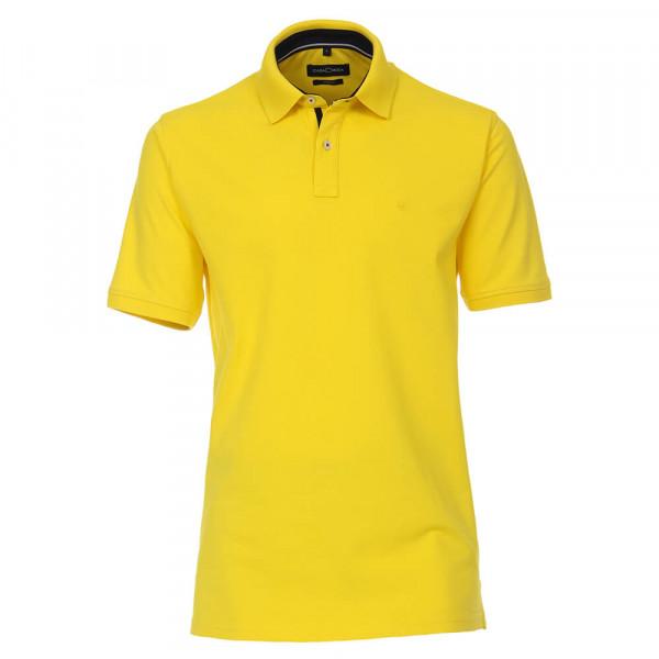 CASAMODA Poloshirt gelb in klassischer Schnittform