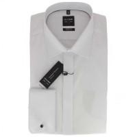 OLYMP Level Five soirée body fit Hemd UNI POPELINE weiss mit New York Kent Kragen in schmaler Schnittform