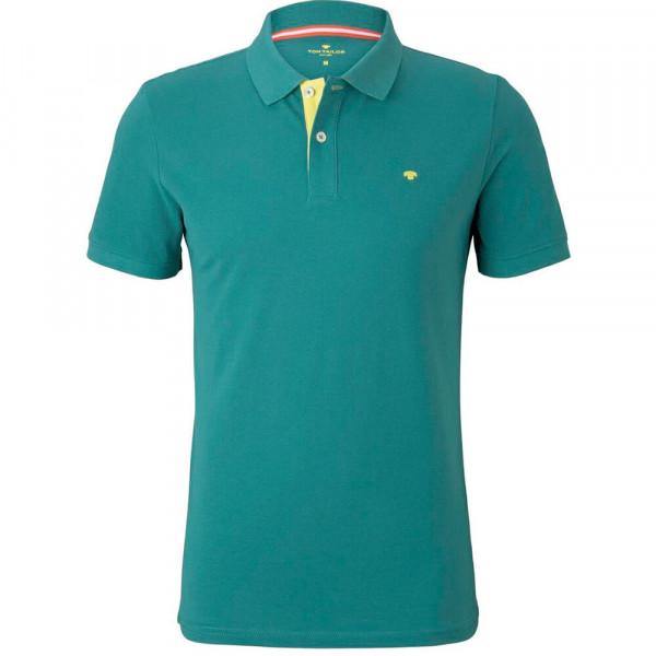 Tom Tailor Poloshirt grün in klassischer Schnittform