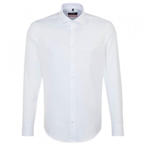 Seidensticker Hemd SLIM FIT TWILL weiss mit Spread Kent Kragen in schmaler Schnittform