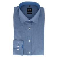 Olymp Level Five body fit Hemd blau kariert mit New York Kent in schmaler Schnittform