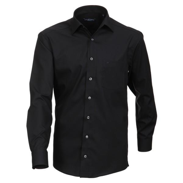 "CASAMODA Hemd ""Popeline"" schwarz mit Kent Kragen in klassischer Schnittform"