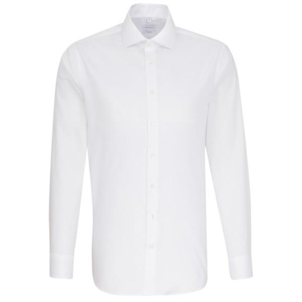 Seidensticker SHAPED Hemd FEIN OXFORD weiss mit Spread Kent Kragen in moderner Schnittform