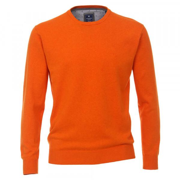 Redmond Pullover orange in klassischer Schnittform