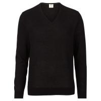 OLYMP Level Five Strick Pullover schwarz in schmaler Schnittform