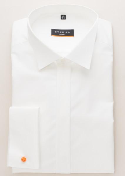 newest e9f40 f3194 Eterna Hemd SLIM FIT CHAMBRAY beige mit Kläppchen Kragen in schmaler  Schnittform