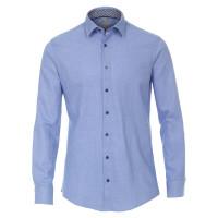 Redmond MODERN FIT Hemd STRUKTUR hellblau mit Kent Kragen in moderner Schnittform