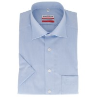 Marvelis MODERN FIT Hemd CHAMBRAY hellblau mit New Kent Kragen in moderner Schnittform