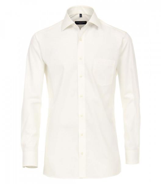 CASAMODA Hemd MODERN FIT UNI POPELINE beige mit Kent Kragen in moderner Schnittform