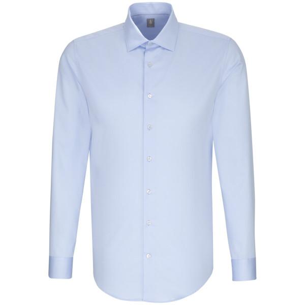 Jacques Britt SLIM FIT Hemd SATIN hellblau mit Kent Kragen in schmaler Schnittform