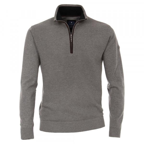 Redmond Pullover grau in klassischer Schnittform