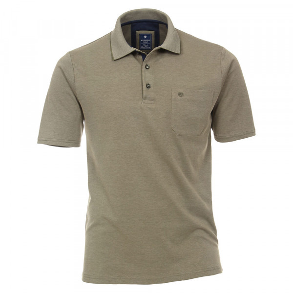 Redmond Poloshirt grau in klassischer Schnittform