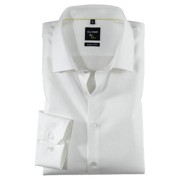 OLYMP No. Six super slim Hemd TWILL beige mit Urban Kent Kragen in super schmaler Schnittform
