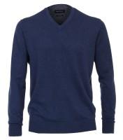 CASAMODA Pullover in blau mit V-Ausschnitt