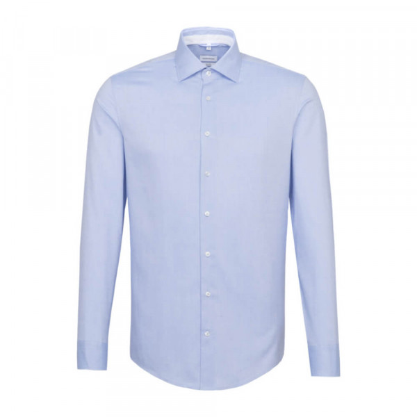 Seidensticker Hemd SHAPED FEIN OXFORD hellblau mit Light Kent Kragen in moderner Schnittform