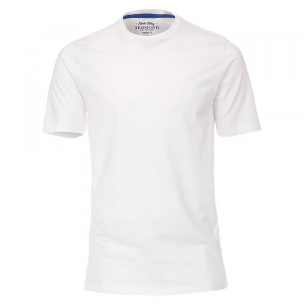 Redmond T-Shirt weiss in klassischer Schnittform