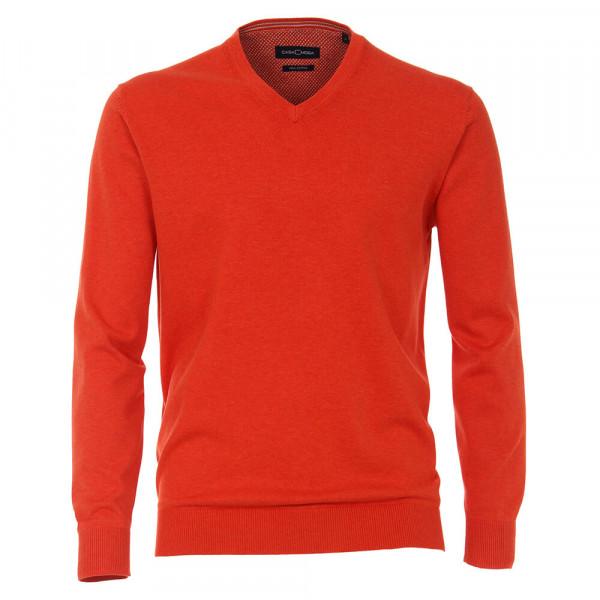 CASAMODA Pullover rot in klassischer Schnittform