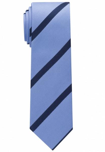Eterna Krawatte hellblau gestreift