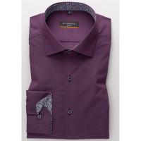 Eterna Hemd SLIM FIT UNI STRETCH dunkelrot mit Classic Kent Kragen in schmaler Schnittform