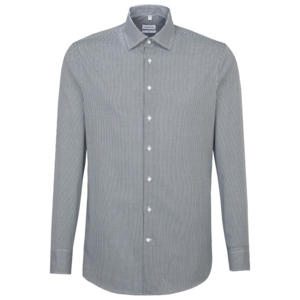 Seidensticker SLIM FIT Hemd OFFICE dunkelblau mit Business Kent Kragen in schmaler Schnittform