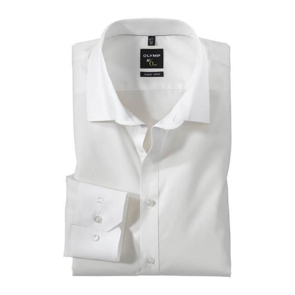 OLYMP No. Six super slim Hemd UNI POPELINE beige mit Urban Kent Kragen in super schmaler Schnittform