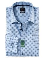 Olymp Hemd LEVEL 5 CHAMBRAY hellblau mit New York Kent Kragen in schmaler Schnittform