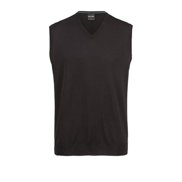 OLYMP Strick modern fit Pullunder schwarz in moderner Schnittform