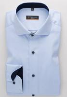 Eterna Hemd SLIM FIT TWILL hellblau mit Hai Kragen in schmaler Schnittform