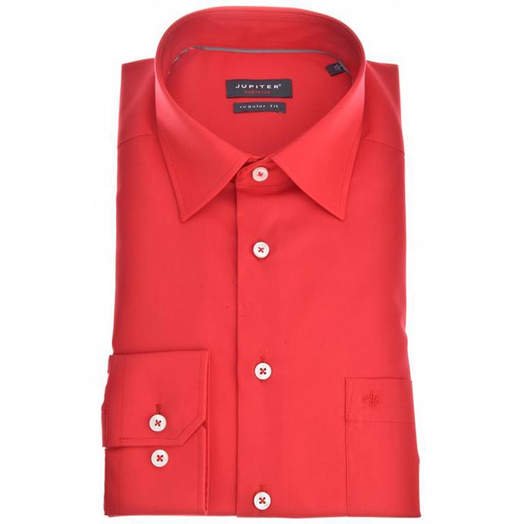 jupiter hemd popeline rot feine hemden. Black Bedroom Furniture Sets. Home Design Ideas