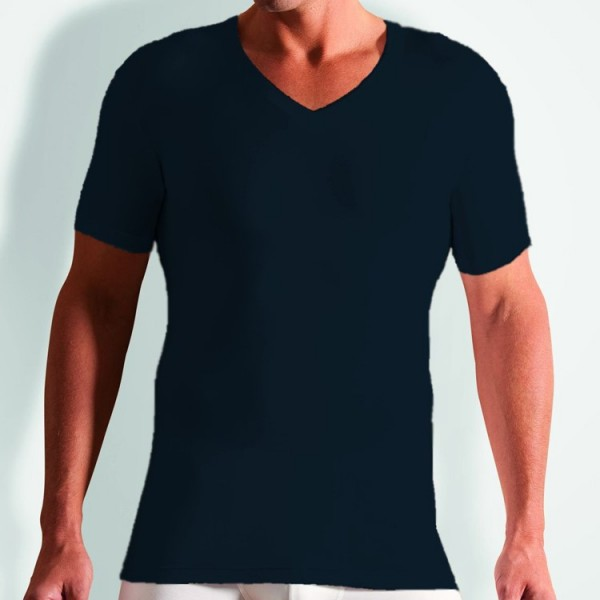 "Novila ""STRETCH COTTON"" dunkelblaues T-Shirt"