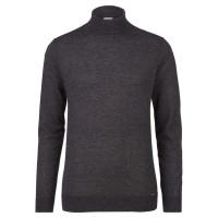 OLYMP Level Five Strick Pullover anthrazit in schmaler Schnittform