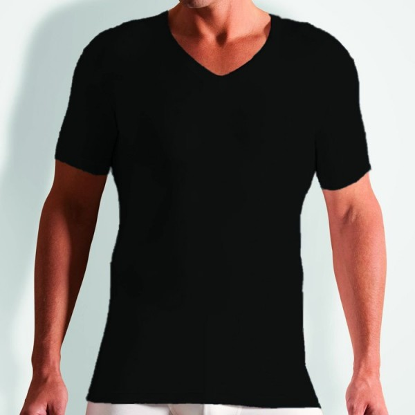 "Novila ""STRETCH COTTON"" schwarzes T-Shirt"