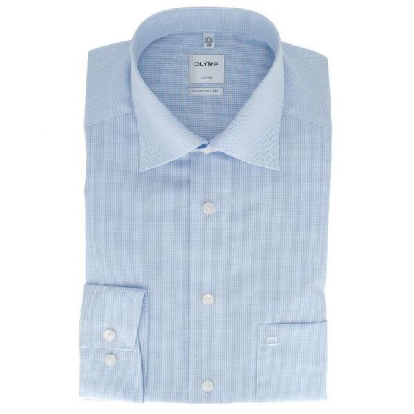 OLYMP Luxor comfort fit Hemd OFFICE hellblau mit New Kent Kragen in klassischer Schnittform