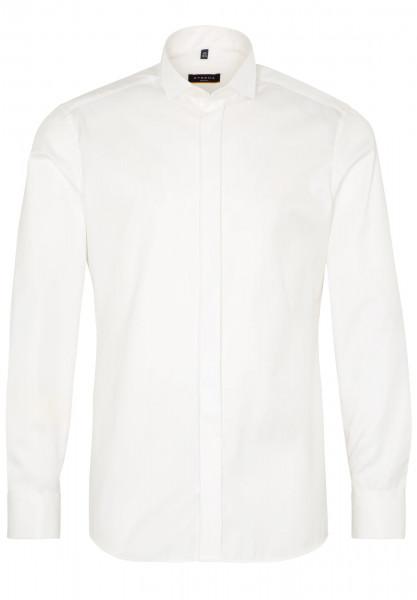 Eterna Hemd SLIM FIT TWILL beige mit Kläppchen Kragen in schmaler Schnittform
