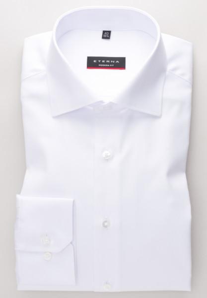 Eterna Hemd MODERN FIT TWILL weiss mit Classic Kent Kragen in moderner Schnittform