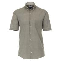 Redmond COMFORT FIT Hemd TWILL grau mit Button Down Kragen in klassischer Schnittform