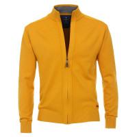 Redmond Strickjacke gelb in klassischer Schnittform