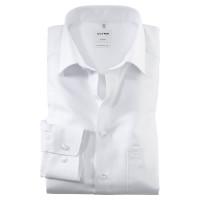 OLYMP Luxor comfort fit Hemd TWILL weiss mit New Kent Kragen in klassischer Schnittform