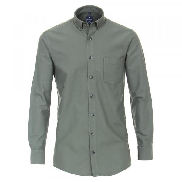Redmond COMFORT FIT Hemd STRUKTUR grün mit Button Down Kragen in klassischer Schnittform