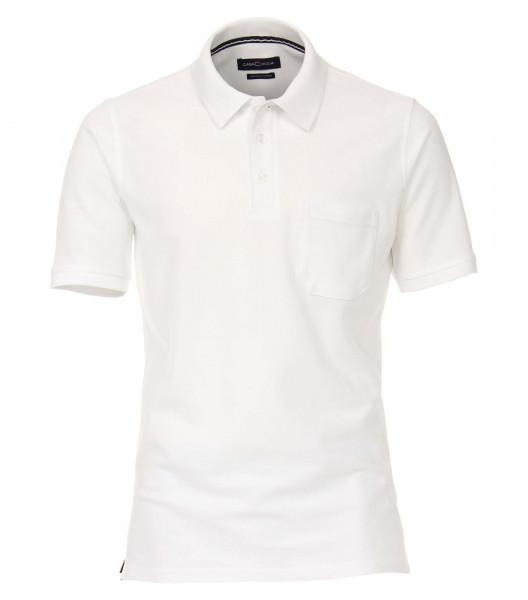 CASAMODA Poloshirt weiss in klassischer Schnittform