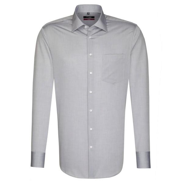 Seidensticker REGULAR Hemd CHAMBRAY grau mit Business Kent Kragen in moderner Schnittform