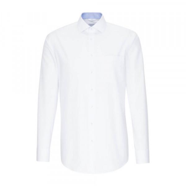 Seidensticker Hemd REGULAR PRINT weiss mit Light Kent Kragen in moderner Schnittform