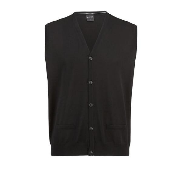 OLYMP Strick modern fit Weste schwarz in moderner Schnittform